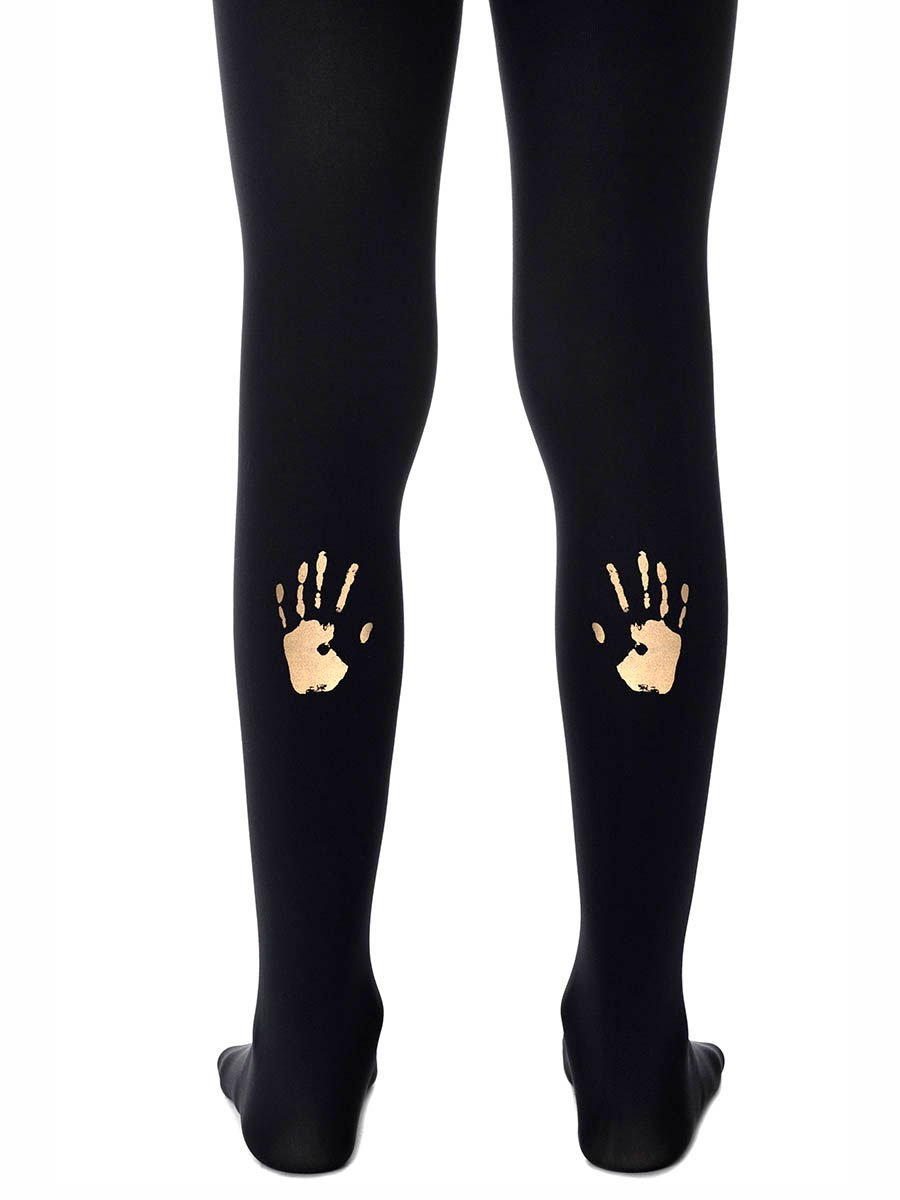 Hi-Five Black & Gold Girls Tights