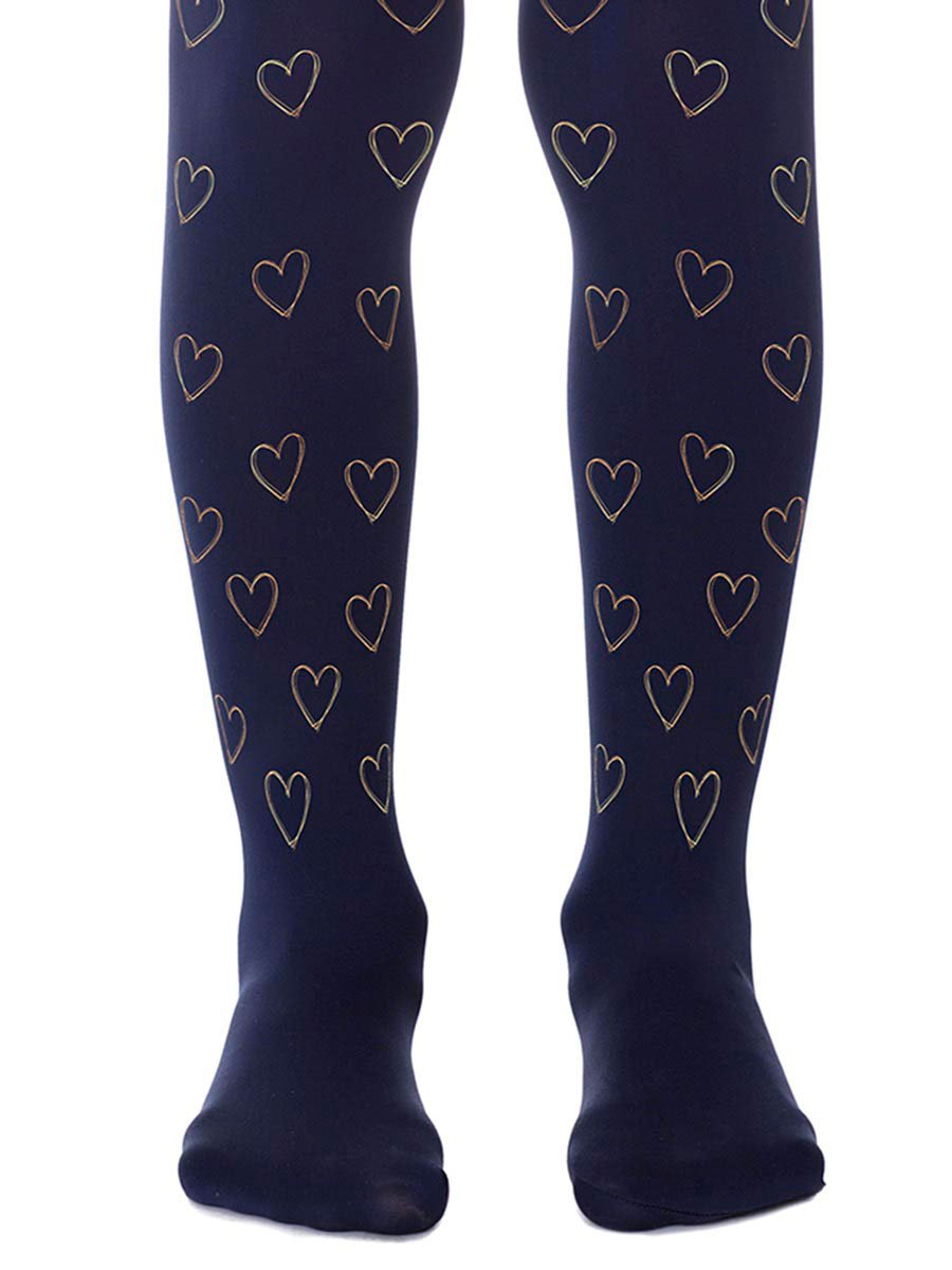 First Love Navy Girls Tights