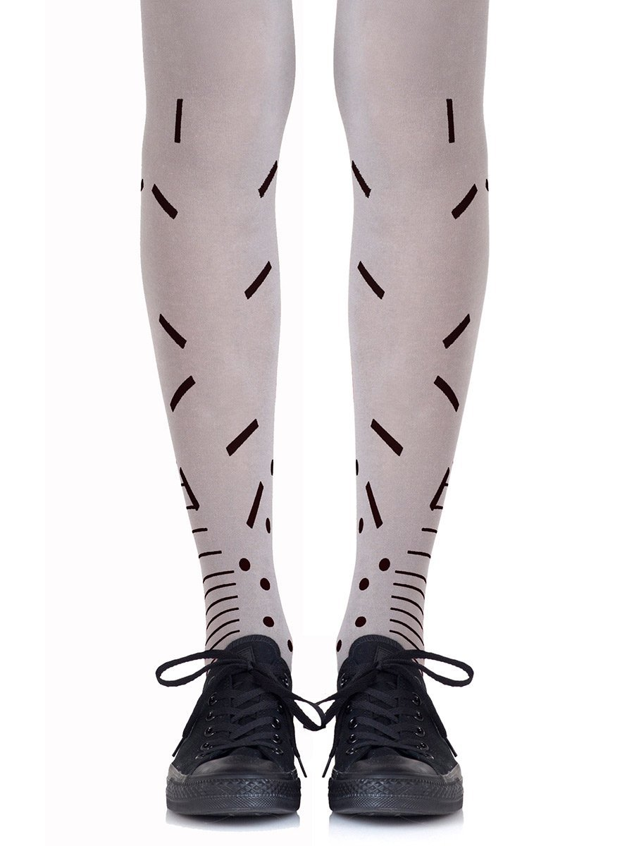 Toe The Line Grey Tights