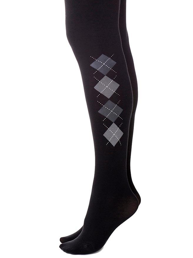Oxford Argyle Black Tights