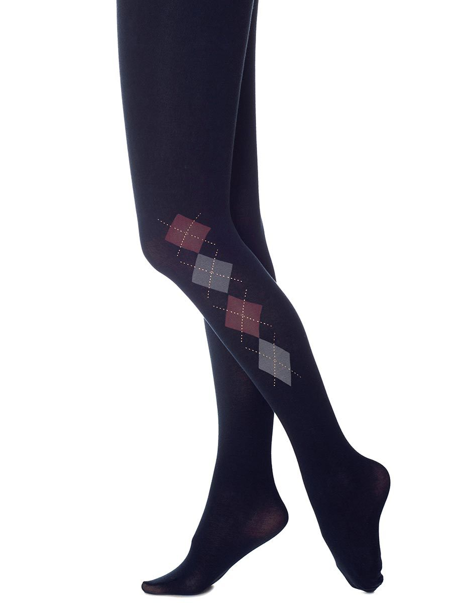 Oxford Argyle Navy Tights