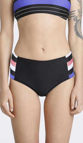 Multi Stripe High Waist Bikini Combo