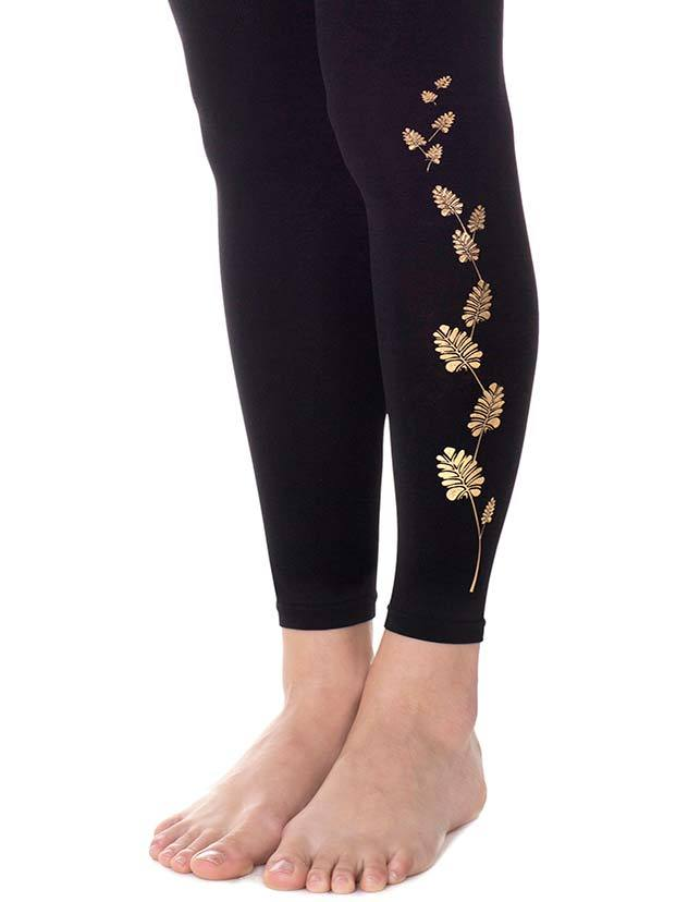 Free Leave Black Footless Tights