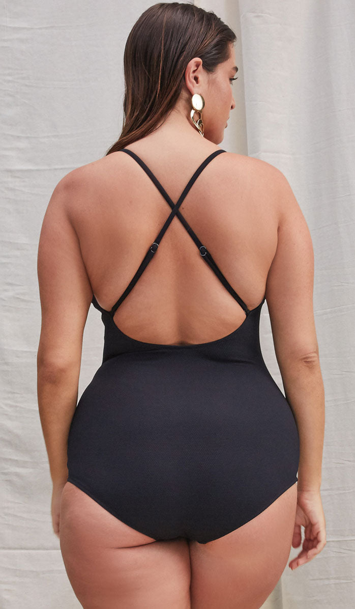 The FARRAH Black Tech One Piece