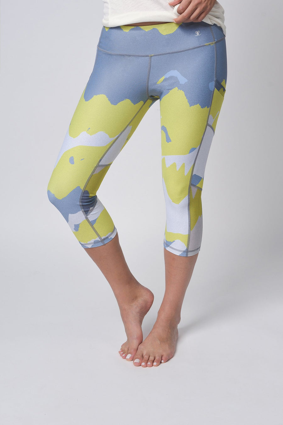 Yellow Camouflage Leggings