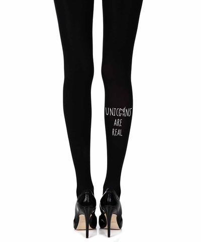 B A Unicorn Black Woman Tights