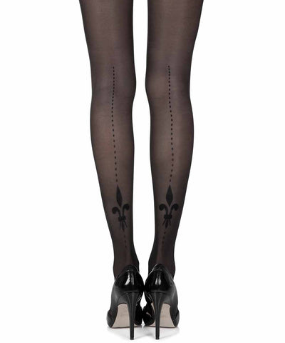 Lily Of The Valley Black Sheer Tights