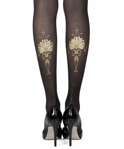 Egyption Godes Black Sheer Tights