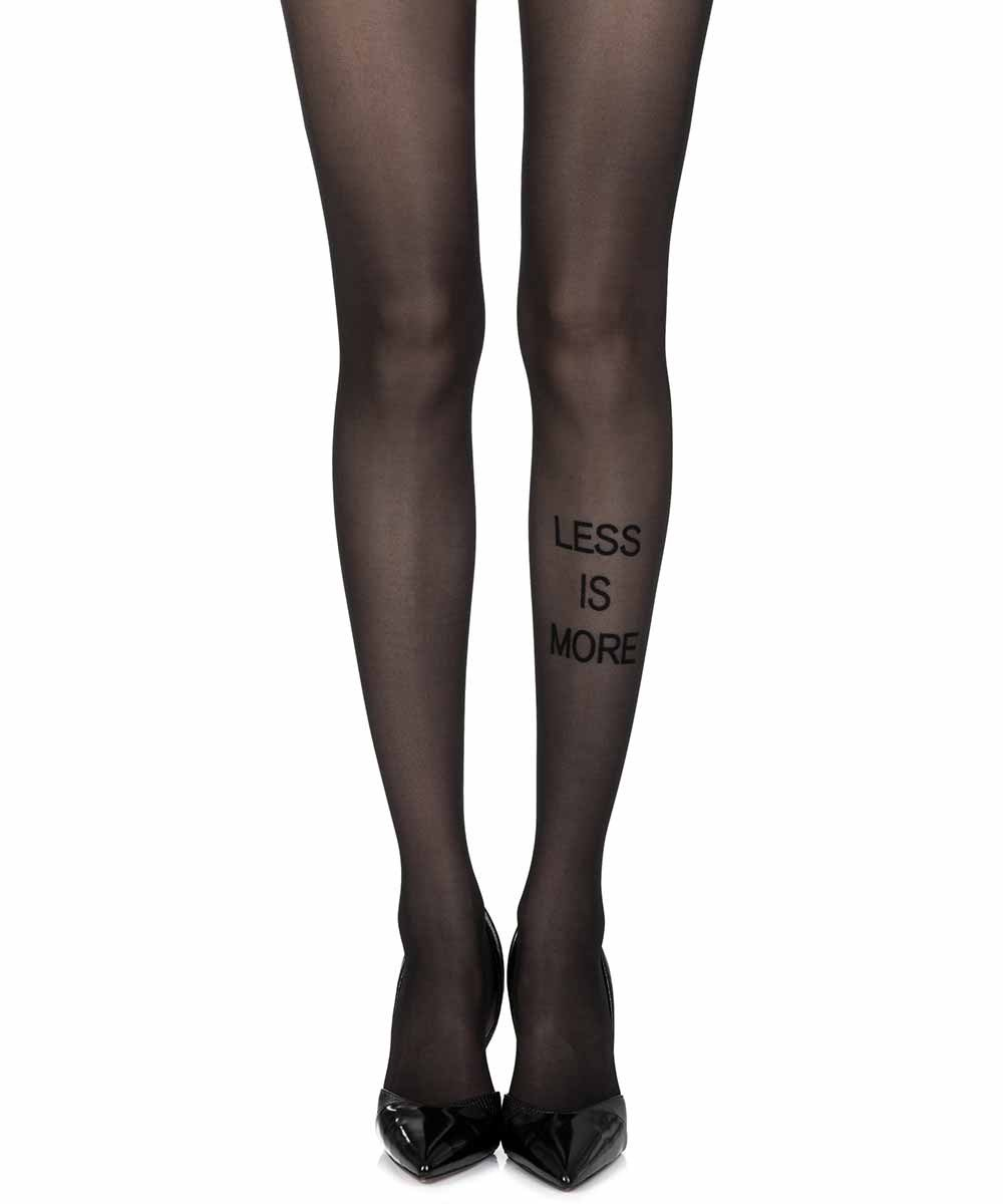 Less Is More Black Sheer Tights
