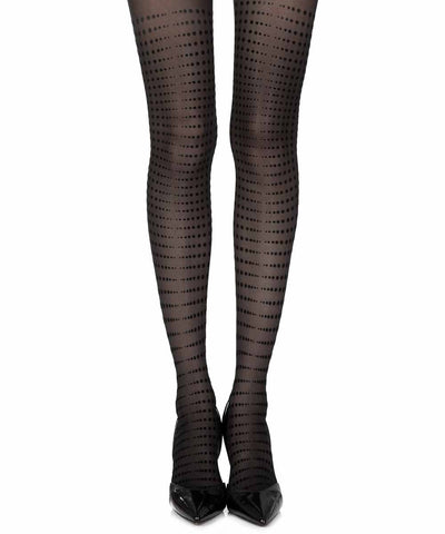 Matching Point Black Sheer Tights
