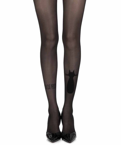 Smelly Cat Black Sheer Tights