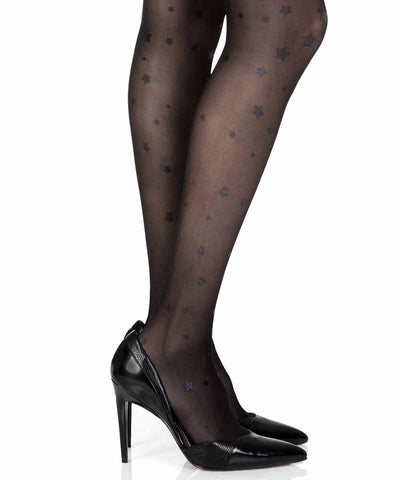 Star Light Black Sheer Tights