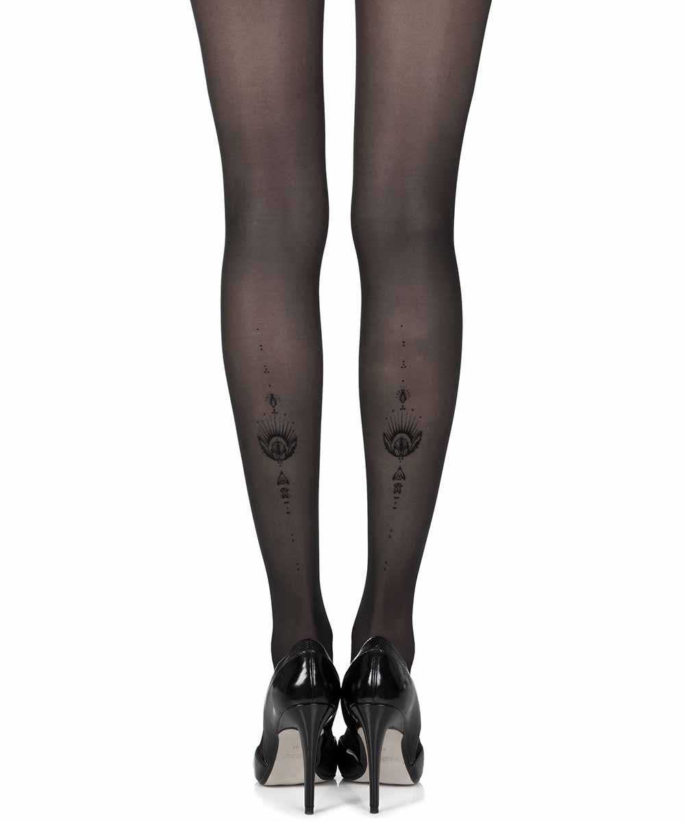 Jewel In The Night Black Sheer Tights