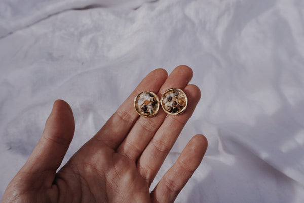 Compass Studs in Shell #12