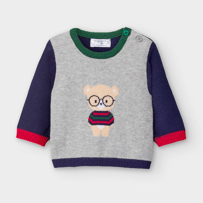 Bear with glasses sweater