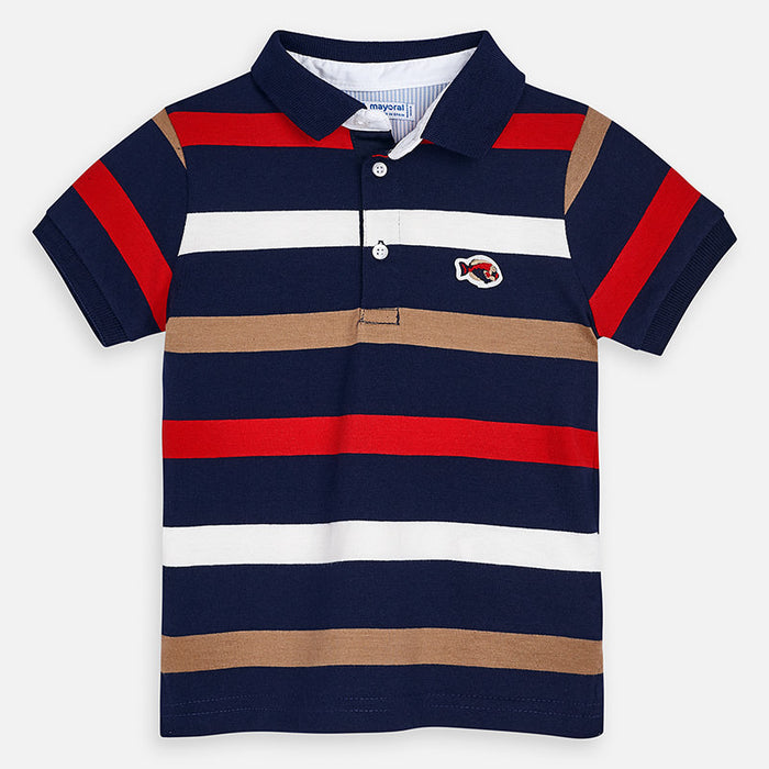 Striped Polo with fish
