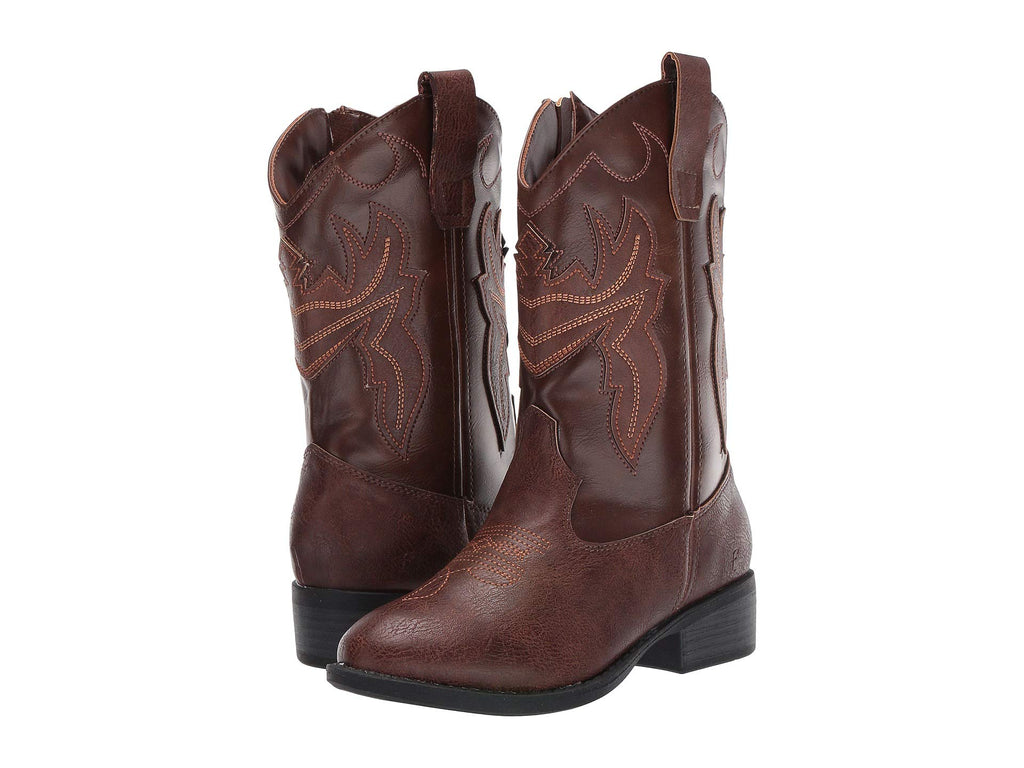 Bailey Stitch Brown Cowboy Boots Kids