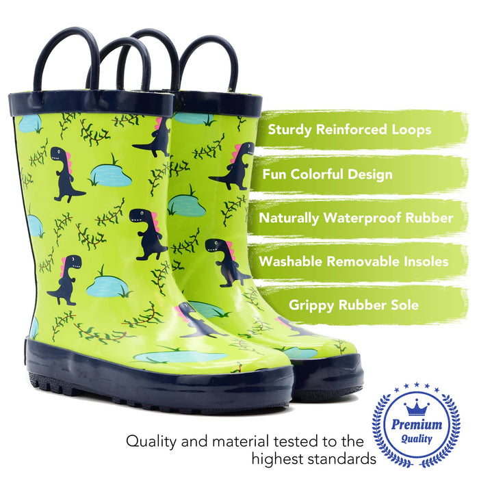 Blue Dinosaur Loop Rain Boot