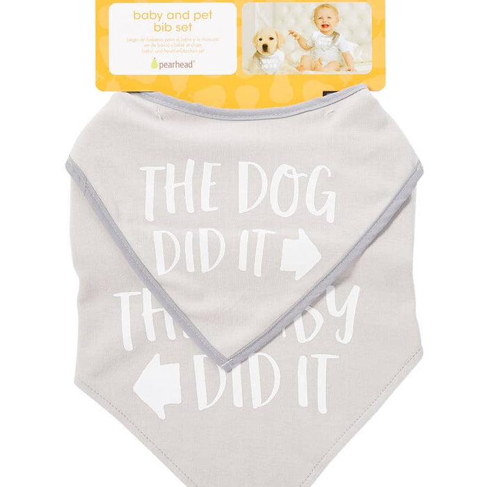 Baby and Pet Bib Set