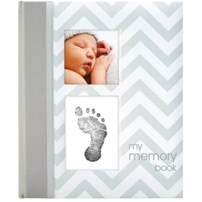 Chevron Baby Book and Clean Touch Ink Pad Kit
