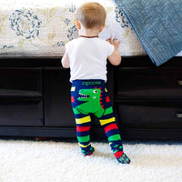 GRIP+EASY™ COMFORT CRAWLER LEGGING & SOCKS SET Dinosaur