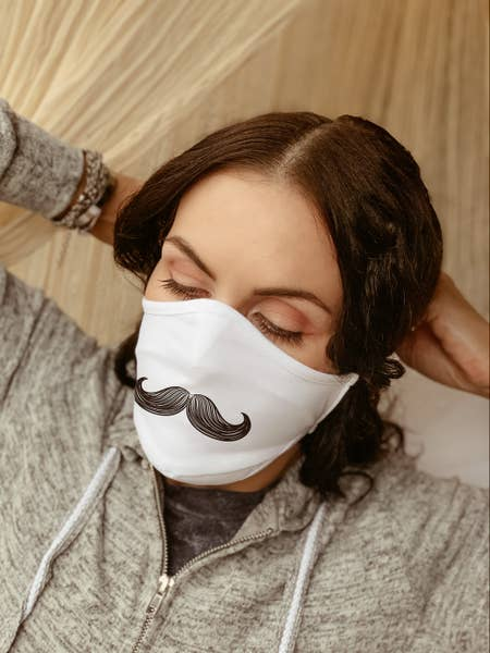 Mustache Cloth Washable Face Mask