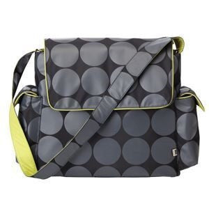 Grey Dot Messenger - Chartruese Trim