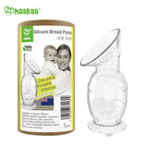 Haaka Silicone Breast Pump with Suction Base 4 oz