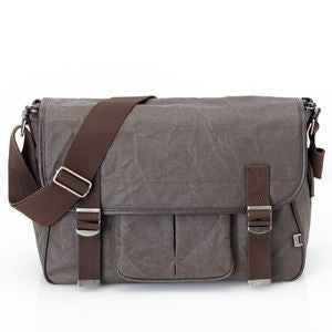 Men's Wax Canvas Satchel Diaper Bag - Chocolate