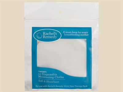 Rachel's Remedy Disposable Moistening Cloths- 12 Pack