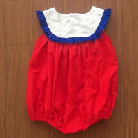Girls Red and Royal Blue Bubble
