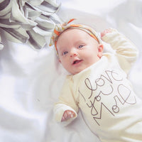 I Love You More Long Sleeve Onesie by Tenth & Pine