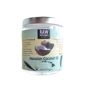 COCONUT OIL RAW HAWAIIAN, USA PURE ORGANIC GMO FREE - 8OZ.