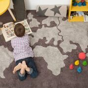 World Map Lorena Canals Washable Rug