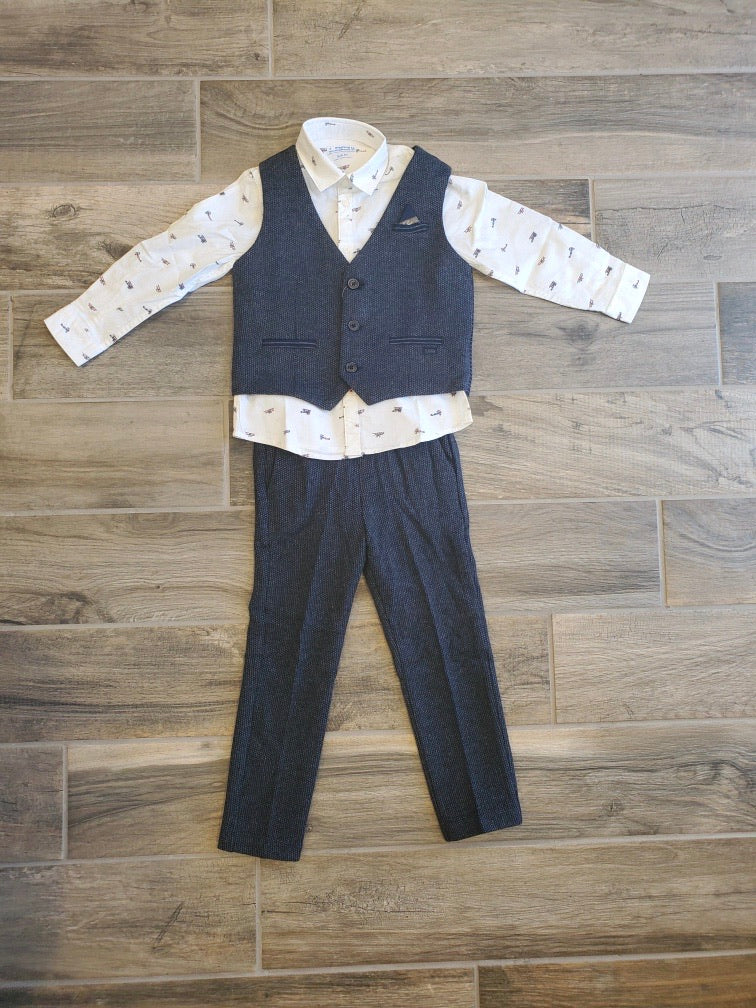 Vest and Pant Suit Set
