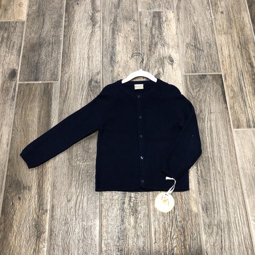 Navy Blue button down sweater with matching navy blue buttons.