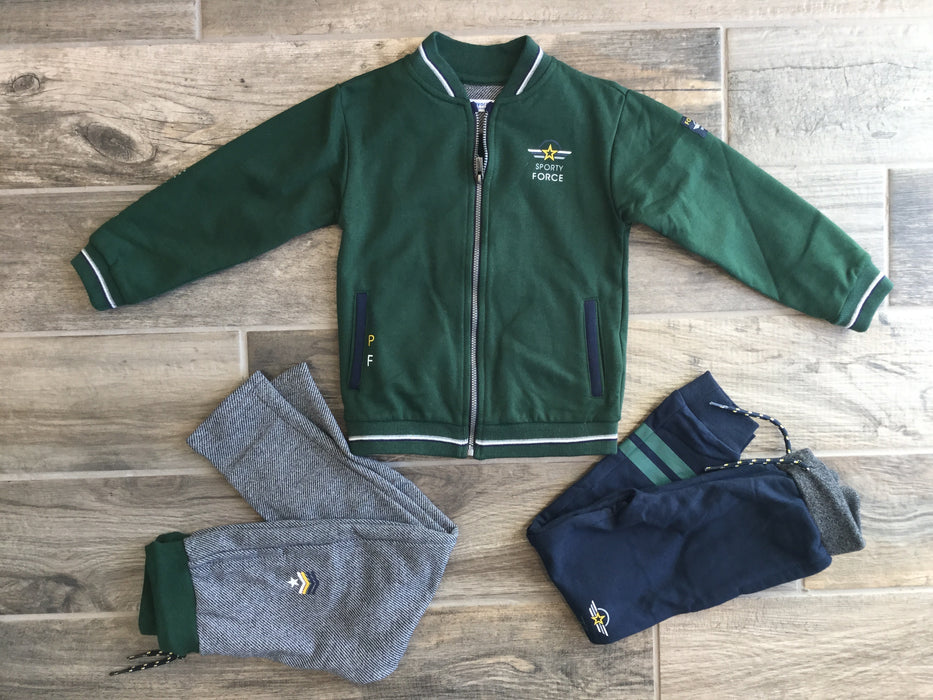 Green Jacket with Two Pairs of Pants
