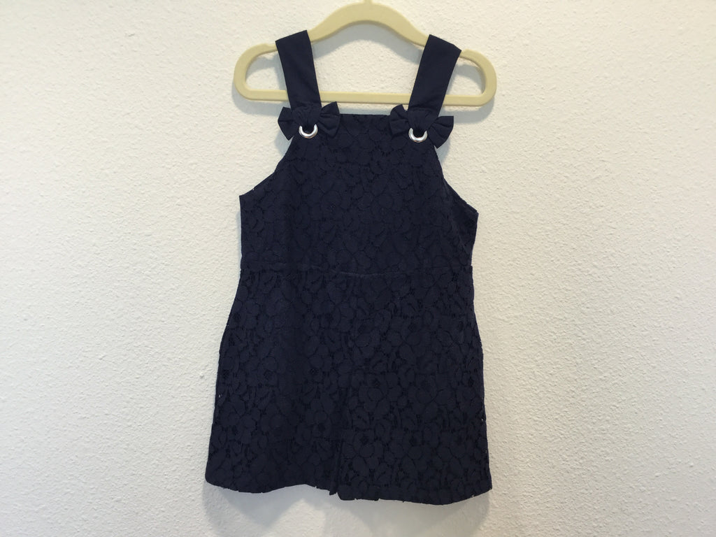 Navy Lace Overalls