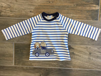 Driving Dogs Long Sleeve Striped Shirt