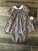 Collared Flower Dress
