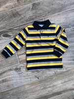 Corn Striped Long Sleeve Polo