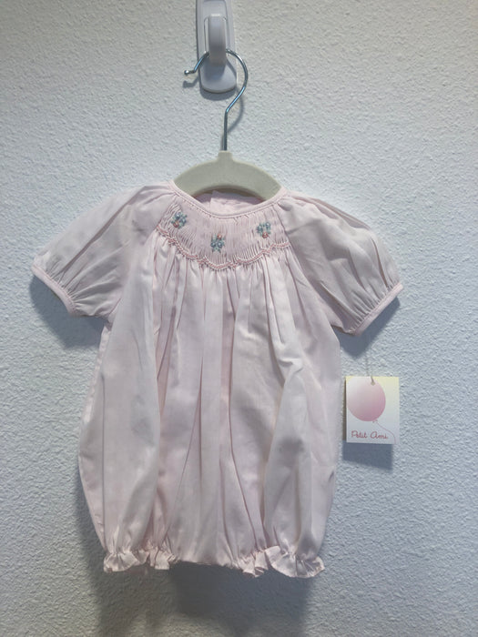 Pink Bubble Smocking by Petit Ami