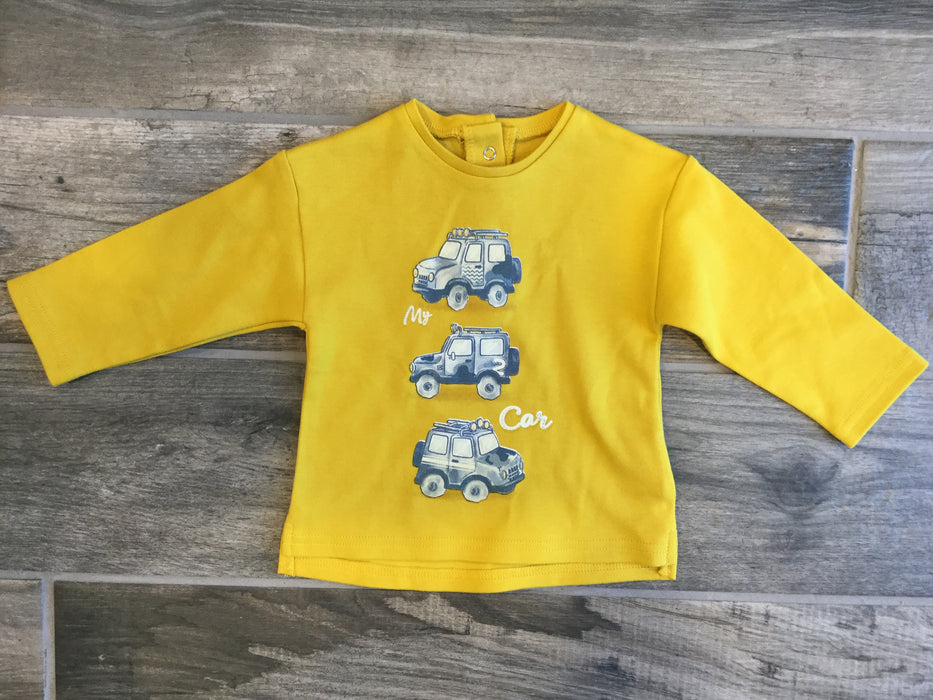 Mustard Long Sleeve Shirt with Jeeps