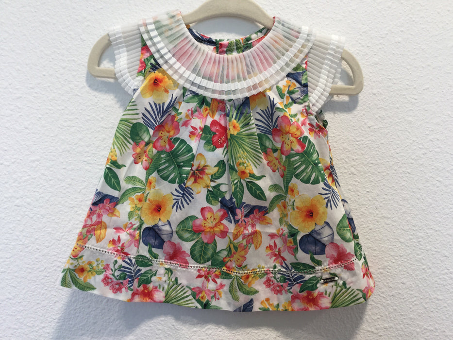 Tropical Flowers Blouse with Leggings