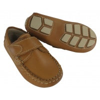 Driving Moccasin with velcro closure Natural Beige