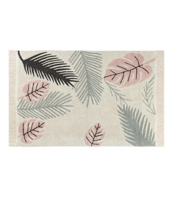Tropical Pink Lorena Canals Washable Rug