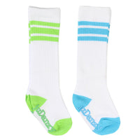 Judanzy Socks Lime & Turquoise Tube Style