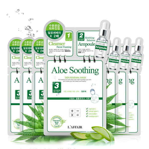 L'AFFAIR 3-Step Mask Pack-Aloe Soothing (Set of 10) - SkincarePharm