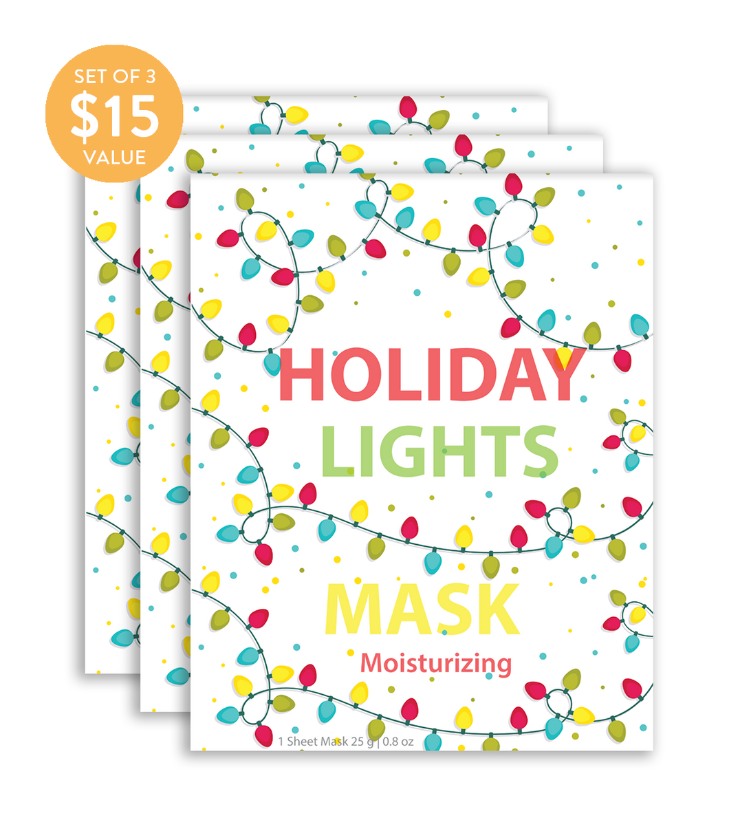 Holiday Lights Mask (Set of 3) - SkincarePharm