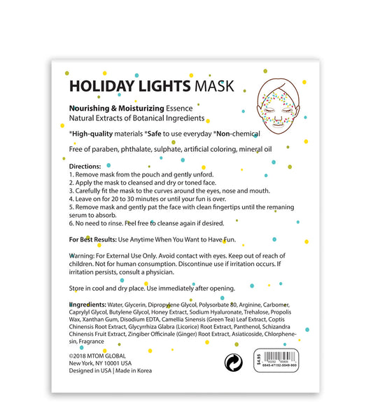 Holiday Lights Mask (Set of 12) - SkincarePharm